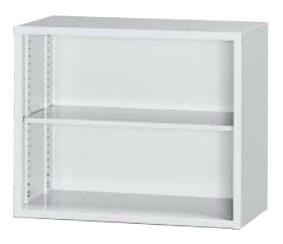 A4対応 オープン書庫 高さ730mm 上置専用 ホワイト /TO-3N-073-WH