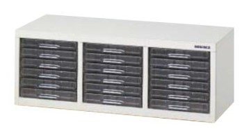 A4パステルケース 机上 書庫収納タイプ 浅型6段×3列 /TO-CFA4-306S