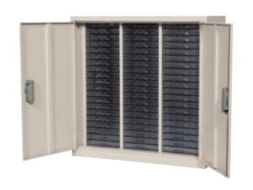 ユニットケース扉付 A4 浅型20段×3列 高さ880mm 情報漏えい対策商品 /TO-RHA4-320S
