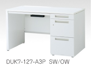 デュエナ 片袖机 デスク パネル脚 A4-3段 Kタイプ W1100×D700×H700mm /TO-DUK7-117-A3P □/□