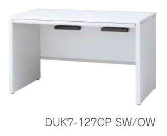 デュエナ 平机 デスク パネル脚 引出し付き Kタイプ W1100×D700×H700mm /TO-DUK7-117CP □/□