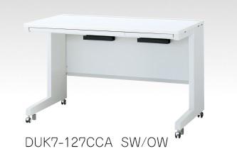 デュエナ 平机 デスク キャスター脚 引出し付き Kタイプ W1200×D600×H700mm /TO-DUK7-126CCA □/□