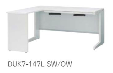 デュエナ L型デスク Kタイプ L型脚 平机タイプ W1400×D700×H700mm /TO-DUK7-147L □□/□□