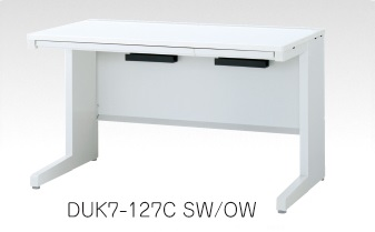 デュエナ 平机 デスク Kタイプ L 型脚 引出し付き W1400×D600×H700mm /TO-DUK7-146C □/□