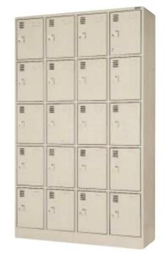 20人用シューズロッカー 4列×5段 合鍵付 中棚付き /TO-SLK-2045-TNG