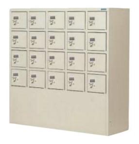 20人用ダイヤル錠小物ロッカー 5列×4段 ダイヤル式錠 /TO-DPLK-2054N