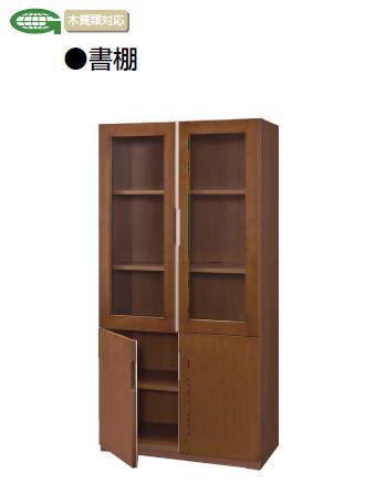 木製ガラス書棚 VP39 棚板3枚付き /TO-VP39-BSH