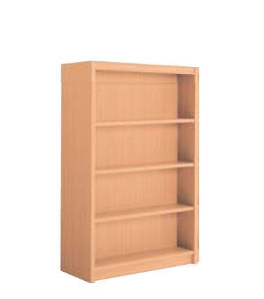 超人気 送料無料 新品 お買い得品 国産 木製書架 直立 高さ1545mm 4段 両側 TO-R-BBEB 1連