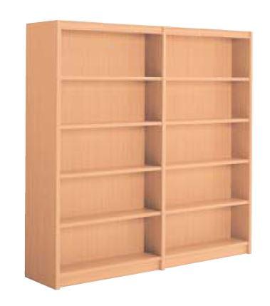 木製書架 直立 2連 両側 5段 高さ1890mm /TO-W-CBE