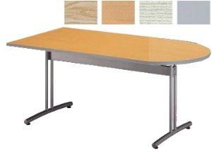 ミーティングテーブル CRT 半楕円型 幅1500×奥行750mm /TO-CRT-1575HR