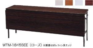 ワイド脚折りたたみテーブル 幕板付き 共張 幅1800×奥行600mm /TO-WTM-1860