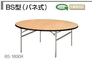 折りたたみテーブル BS型 1800×H700mm シナ合板 クリア塗装 /TO-BS-1800R