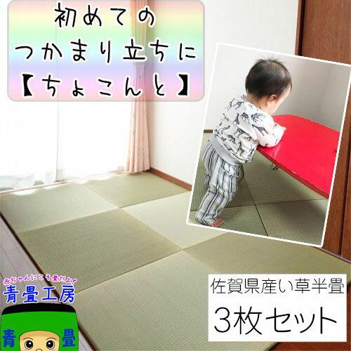伊藤園×置き畳 琉球畳 ユニット畳 【ちょこんと 3枚セット】イ草
