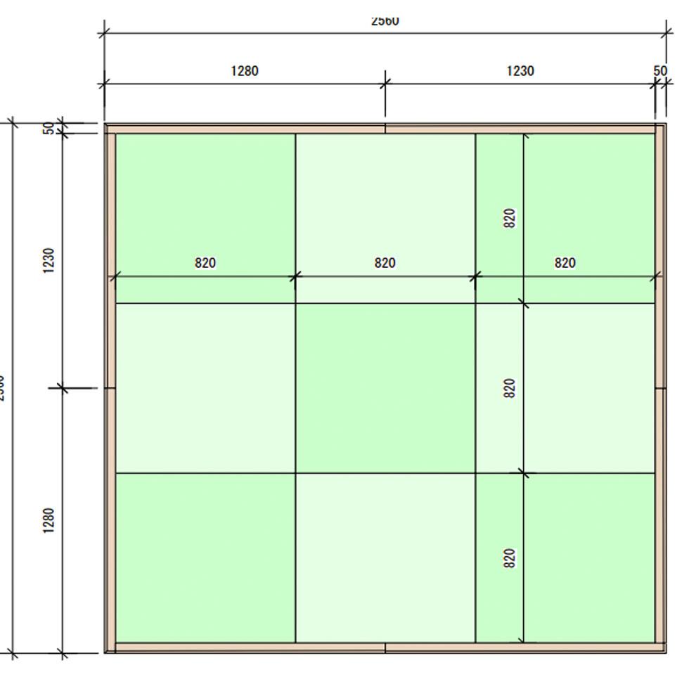 82cm角専用 木枠 4.5畳タイプ 枠 畳 フレーム 日本製 国産 琉球畳 マット tatami カーペット 置き畳 ユニット畳