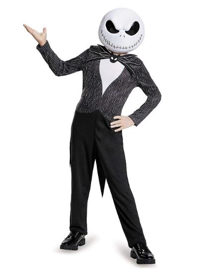 キッズ ボーイズ チャイルド ジャック・スケリントン (ナイトメア・ビフォア・クリスマス) BOYS ディズニー ハロウィン ナイトメアーの主役JACKになりきり♪コスプレ 衣装 コスチューム 仮装 ランド フェス イベント テーマパーク