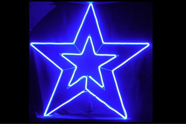 【ネオン】LEDネオンチューブ【ビックスター】【RGB】【レインボー】【星】【ほし】【2連】【ネオンライト】【電飾】【LED】【ライト】【BAR】【カフェ】【看板】【イルミネーション】【インテリア】【店舗】【ネオンサイン】【アメリカン雑貨】【かわいい】【おしゃれ】