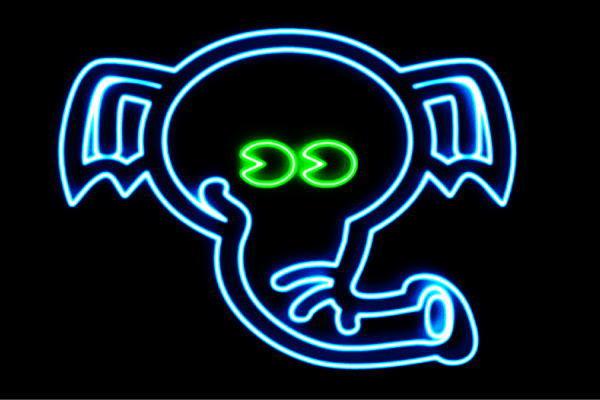 【ネオン】ゾウ【ぞう】【エレファント】【アニマル】【ネオンライト】【電飾】【LED】【ライト】【サイン】【neon】【看板】【イルミネーション】【インテリア】【店舗】【ネオンサイン】【アメリカン雑貨】【かわいい】【おしゃれ】