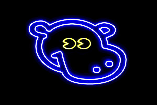 【ネオン】カバ【かば】【かばさん】【動物】【アニマル】【ネオンライト】【電飾】【LED】【ライト】【サイン】【neon】【看板】【イルミネーション】【インテリア】【店舗】【ネオンサイン】【アメリカン雑貨】【かわいい】【おしゃれ】