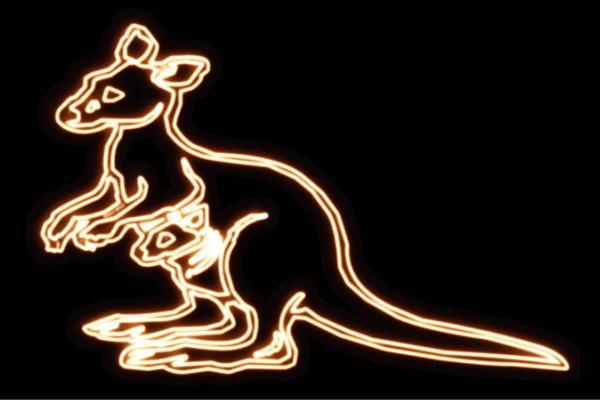 【ネオン】カンガルー【かんがるー】【オーストラリア】【アニマル】【動物】【ネオンライト】【電飾】【LED】【ライト】【サイン】【neon】【看板】【イルミネーション】【インテリア】【店舗】【ネオンサイン】【アメリカン雑貨】【かわいい】【おしゃれ】