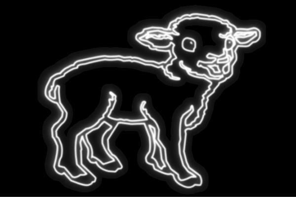 【ネオン】子やぎ【子ヤギ】【ヤギ】【やぎ】【Goat】【ゴウト】【アニマル】【動物】【ネオンライト】【電飾】【LED】【ライト】【サイン】【neon】【看板】【イルミネーション】【インテリア】【店舗】【ネオンサイン】【アメリカン雑貨】【かわいい】【おしゃれ】