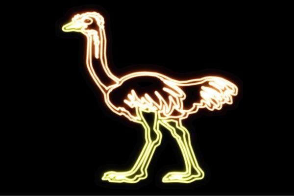 【ネオン】ダチョウ【だちょう】【トリ】【鳥】【とり】【アニマル】【動物】【ネオンライト】【電飾】【LED】【ライト】【サイン】【neon】【看板】【イルミネーション】【インテリア】【店舗】【ネオンサイン】【アメリカン雑貨】【かわいい】【おしゃれ】