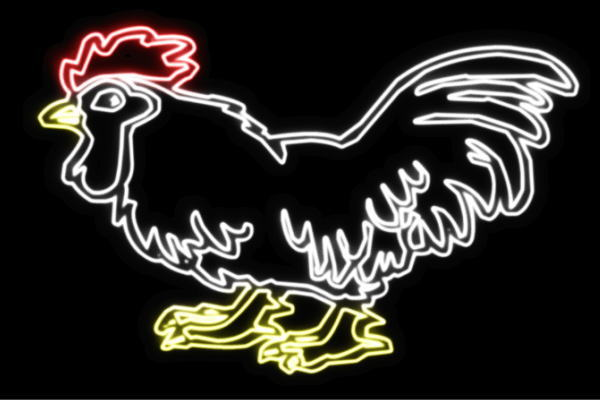 【ネオン】ニワトリ【にわとり】【鶏】【とり】【鳥】【トリ】【アニマル】【動物】【ネオンライト】【電飾】【LED】【ライト】【サイン】【neon】【看板】【イルミネーション】【インテリア】【店舗】【ネオンサイン】【アメリカン雑貨】【かわいい】【おしゃれ】