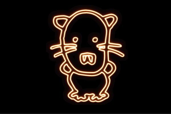 【ネオン】ネコちゃん【ネコ】【ねこ】【猫】【動物】【アニマル】【ネオンライト】【電飾】【LED】【ライト】【サイン】【neon】【看板】【イルミネーション】【インテリア】【店舗】【ネオンサイン】【アメリカン雑貨】【かわいい】【おしゃれ】