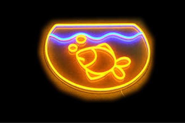 【ネオン】金魚【魚】【フィッシュ】【さかな】【ペット】【きんぎょ】【BAR】【バー】【カフェ】【ネオンライト】【電飾】【LED】【ライト】【サイン】【neon】【看板】【イルミネーション】【インテリア】【店舗】【ネオンサイン】【アメリカン雑貨】【おしゃれ】