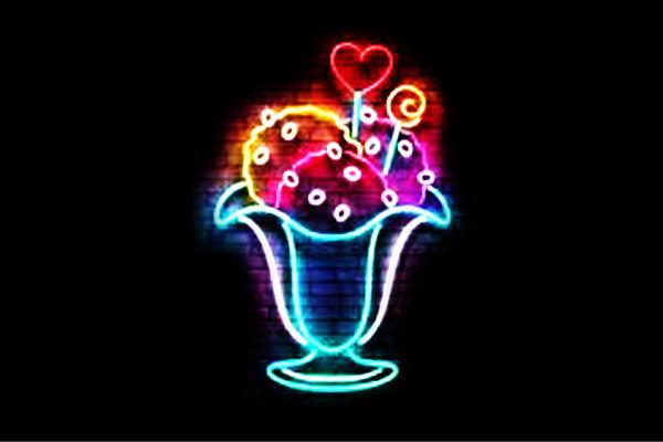 【ネオン】パフェ【ぱふぇ】【parfait】【アイス】【カップ】【カフェ】【BAR】【バー】【ネオンライト】【電飾】【LED】【ライト】【サイン】【neon】【看板】【イルミネーション】【インテリア】【店舗】【ネオンサイン】【アメリカン雑貨】【おしゃれ】