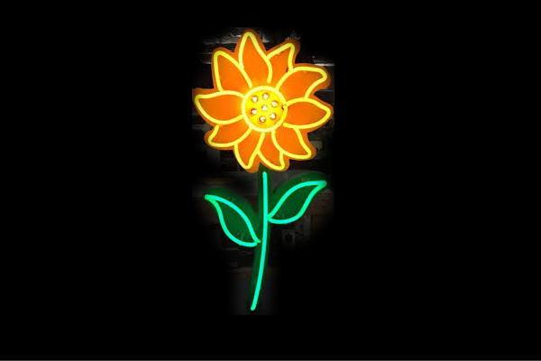 【ネオン】ひまわり【ヒマワリ】【向日葵】【sunflower】【サンフラワー】【花】【はな】【お花】【イラスト】【ネオンライト】【電飾】【LED】【ライト】【サイン】【neon】【看板】【イルミネーション】【インテリア】【店舗】【ネオンサイン】【おしゃれ】