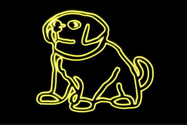 【ネオン】わんちゃん【犬】【ドッグ】【イヌ】【いぬ】【番犬】【動物】【アニマル】【ネオンライト】【電飾】【LED】【ライト】【サイン】【neon】【看板】【イルミネーション】【インテリア】【店舗】【ネオンサイン】【アメリカン雑貨】【かわいい】【おしゃれ】