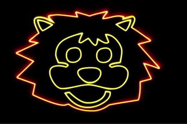 【ネオン】らいおんフェイス【ライオン】【LION】【らいおん】【動物】【アニマル】【ネオンライト】【電飾】【LED】【ライト】【サイン】【neon】【看板】【イルミネーション】【インテリア】【店舗】【ネオンサイン】【アメリカン雑貨】【かわいい】【おしゃれ】