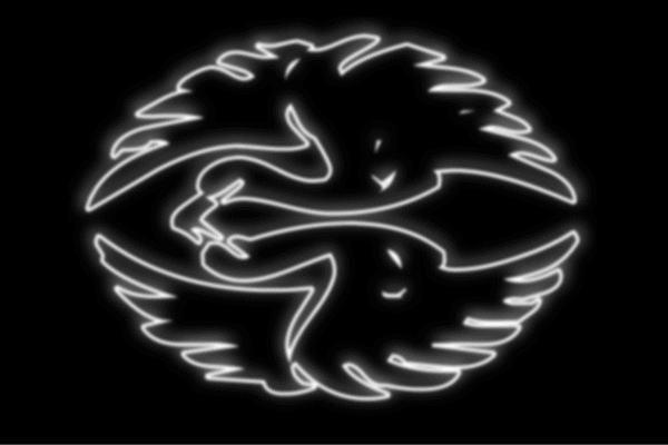 【ネオン】鶴家紋【つる】【ツル】【とり】【鳥】【トリ】【家紋】【動物】【アニマル】【ネオンライト】【電飾】【LED】【ライト】【サイン】【neon】【看板】【イルミネーション】【インテリア】【店舗】【ネオンサイン】【アメリカン雑貨】【かわいい】【おしゃれ】
