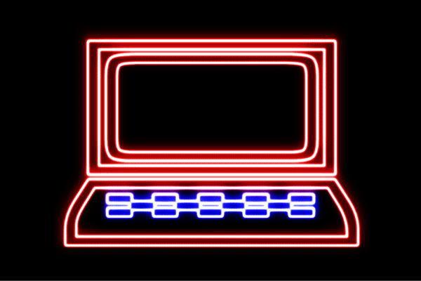 【ネオン】パソコン【PC】【イラスト】【アイコン】【ノートパソコン】【ノート】【ネオンライト】【電飾】【LED】【ライト】【サイン】【neon】【看板】【イルミネーション】【インテリア】【店舗】【ネオンサイン】【アメリカン雑貨】【かわいい】【おしゃれ】