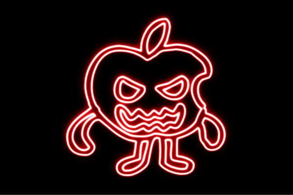 【ネオン】毒林檎【林檎】【リンゴ】【りんご】【果物】【食べ物】【野菜】【電飾】【LED】【ライト】【サイン】【neon】【看板】【イルミネーション】【インテリア】【店舗】【ネオンサイン】【アメリカン雑貨】【かわいい】【おしゃれ】