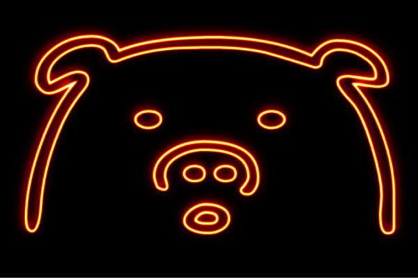 【ネオン】ブタフェイス【2】【ブタ】【豚】【ぶた】【ピッグ】【PIG】【動物】【アニマル】【ネオンライト】【電飾】【LED】【ライト】【サイン】【neon】【看板】【イルミネーション】【インテリア】【店舗】【ネオンサイン】【アメリカン雑貨】【かわいい】【おしゃれ】