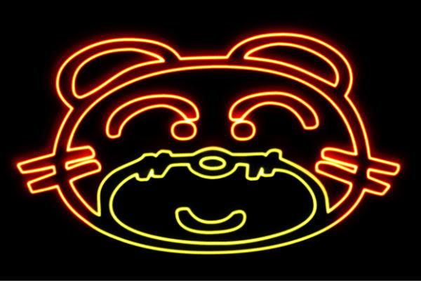 【ネオン】トラフェイス【トラ】【とら】【ねこ】【猫】【ライオン】【動物】【アニマル】【ネオンライト】【電飾】【LED】【ライト】【サイン】【neon】【看板】【イルミネーション】【インテリア】【店舗】【ネオンサイン】【アメリカン雑貨】【おしゃれ】【かわいい】