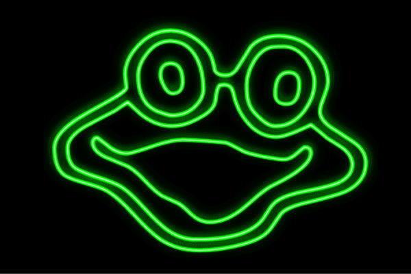 【ネオン】ぴょん吉【蛙】【かえる】【カエル】【フロッグ】【Frog】【動物】【アニマル】【ネオンライト】【電飾】【LED】【ライト】【サイン】【neon】【看板】【イルミネーション】【インテリア】【店舗】【ネオンサイン】【アメリカン雑貨】【かわいい】