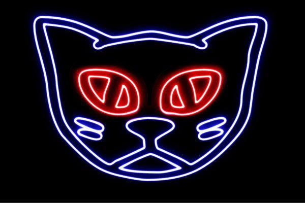 【ネオン】ネコフェイス【4】【ネコ】【ねこ】【猫】【キャット】【動物】【アニマル】【ネオンライト】【電飾】【LED】【ライト】【サイン】【neon】【看板】【イルミネーション】【インテリア】【店舗】【ネオンサイン】【アメリカン雑貨】【かわいい】【おしゃれ】