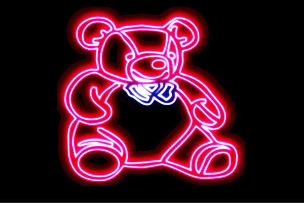 【ネオン】くまのぬいぐるみ【4】【くま】【熊】【クマ】【動物】【アニマル】【ネオンライト】【電飾】【LED】【ライト】【サイン】【neon】【看板】【イルミネーション】【インテリア】【店舗】【ネオンサイン】【アメリカン雑貨】【おしゃれ】【かわいい】