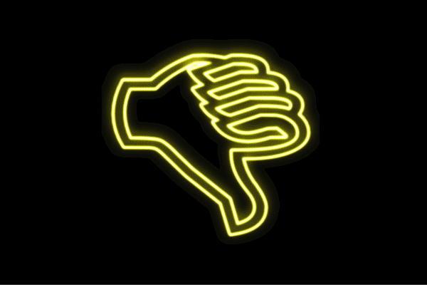 【ネオン】バッド【ばっど】【ブー】【手】【て】【ゆび】【フィンガー】【てのひら】【グー】【イラスト】【ネオンライト】【電飾】【LED】【ライト】【サイン】【neon】【看板】【イルミネーション】【インテリア】【店舗】【ネオンサイン】【アメリカン雑貨】