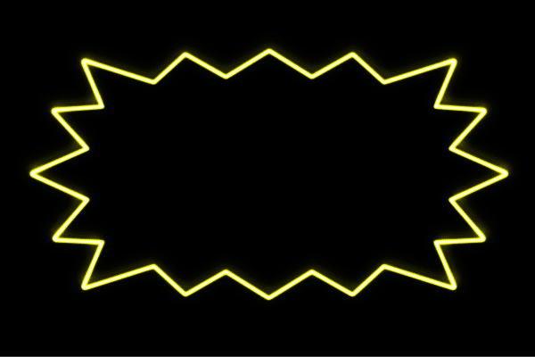 【ネオン】ふきだし【2】【吹き出し】【ギザギザ】【マーク】【せりふ】【セリフ】【イラスト】【アイコン】【ネオンライト】【電飾】【LED】【ライト】【サイン】【neon】【看板】【イルミネーション】【インテリア】【店舗】【ネオンサイン】【アメリカン雑貨】