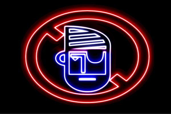 【ネオン】禁止【注意】【きんし】【マーク】【標識】【ちゅうい】【アイコン】【イラスト】【ネオンライト】【電飾】【LED】【ライト】【サイン】【neon】【看板】【イルミネーション】【インテリア】【店舗】【ネオンサイン】【アメリカン雑貨】【おしゃれ】【かわいい】