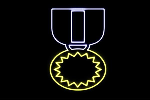 【ネオン】メダル【金メダル】【銀メダル】【銅メダル】【勝利】【金】【銀】【銅】【アイコン】【イラスト】【ネオンライト】【電飾】【LED】【ライト】【サイン】【neon】【看板】【イルミネーション】【インテリア】【店舗】【ネオンサイン】【アメリカン雑貨】
