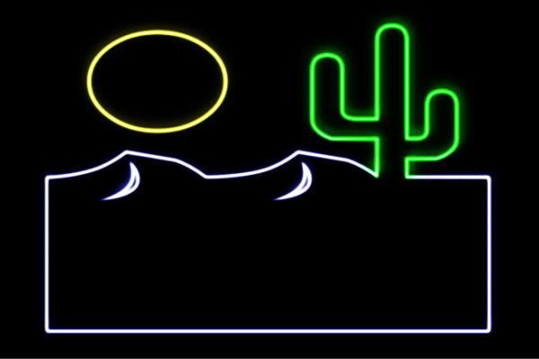 【ネオン】砂漠【さばく】【沙漠】【サボテン】【イラスト】【アイコン】【ネオンライト】【電飾】【LED】【ライト】【サイン】【neon】【看板】【イルミネーション】【インテリア】【店舗】【ネオンサイン】【アメリカン雑貨】【おしゃれ】【かわいい】