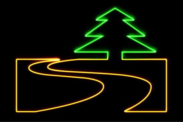 【ネオン】山道【森】【山】【道】【道路】【カーブ】【イラスト】【アイコン】【ネオンライト】【電飾】【LED】【ライト】【サイン】【neon】【看板】【イルミネーション】【インテリア】【店舗】【ネオンサイン】【アメリカン雑貨】【おしゃれ】【かわいい】