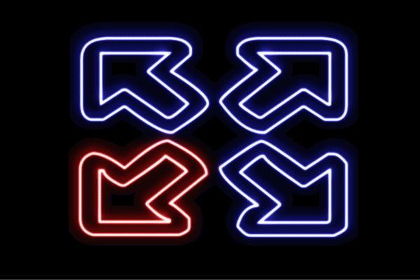 【ネオン】矢印【3】【やじるし】【アイコン】【マーク】【ループ】【アイコン】【記号】【ネオンライト】【電飾】【LED】【ライト】【サイン】【neon】【看板】【イルミネーション】【インテリア】【店舗】【ネオンサイン】【アメリカン雑貨】【かわいい】【おしゃれ】