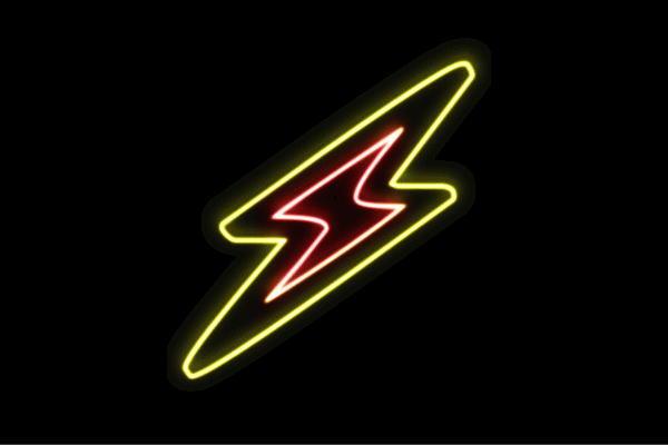 【ネオン】雷【Thunder】【サンダー】【カミナリ】【イナズマ】【いなずま】【アイコン】【イラスト】【ネオンライト】【電飾】【LED】【ライト】【サイン】【neon】【看板】【イルミネーション】【インテリア】【店舗】【ネオンサイン】【アメリカン雑貨】【おしゃれ】
