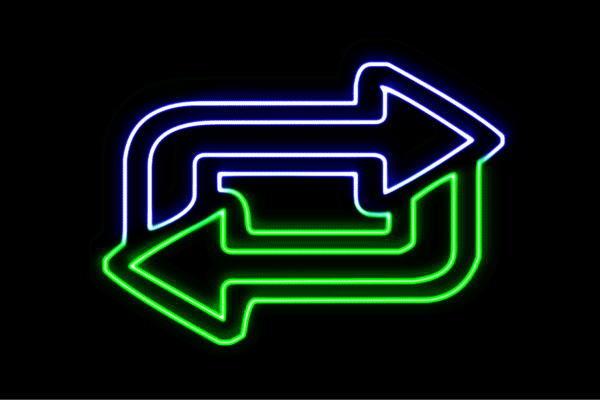 【ネオン】矢印【4】【やじるし】【アイコン】【マーク】【ループ】【アイコン】【記号】【ネオンライト】【電飾】【LED】【ライト】【サイン】【neon】【看板】【イルミネーション】【インテリア】【店舗】【ネオンサイン】【アメリカン雑貨】【かわいい】【おしゃれ】