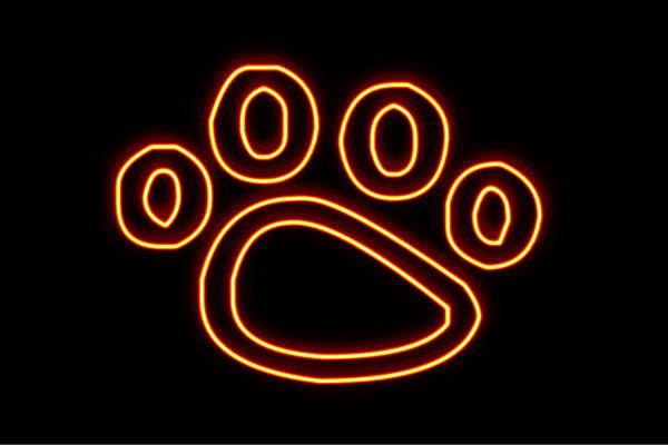 【ネオン】肉球【2】【にくきゅう】【足跡】【動物】【アニマル】【イヌ】【ねこ】【犬】【猫】【いぬ】【ネコ】【ペット】【ネオンライト】【電飾】【LED】【ライト】【サイン】【neon】【看板】【イルミネーション】【インテリア】【店舗】【ネオンサイン】
